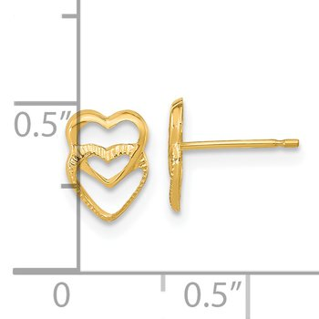 14k Madi K Hearts Post Earrings