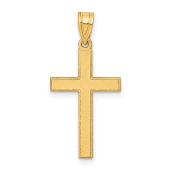 14k Florentine Satin Cross Pendant