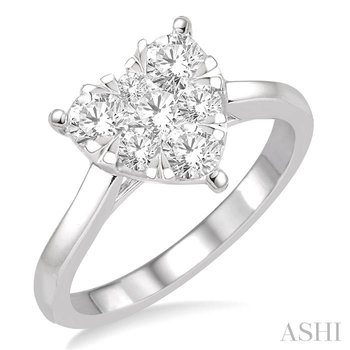 heart shape lovebright essential diamond ring