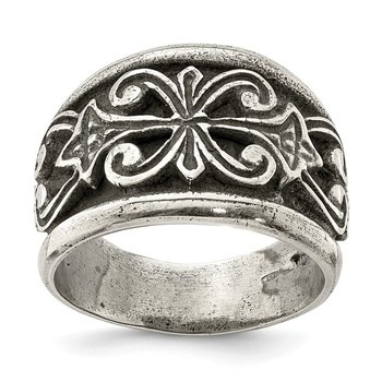 Sterling Silver Antiqued Scroll Design Ring
