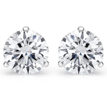 Prong Fmbr Martini Stud Earrings (.30Cttwt)