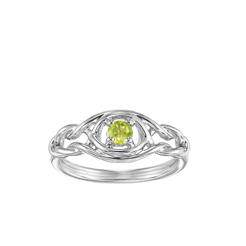 Mixables Silver Peridot Ring (Available In all BirthStones)