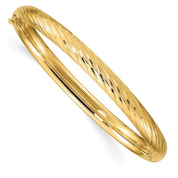 14k 3/16 Textured Children's Hinged Bangle