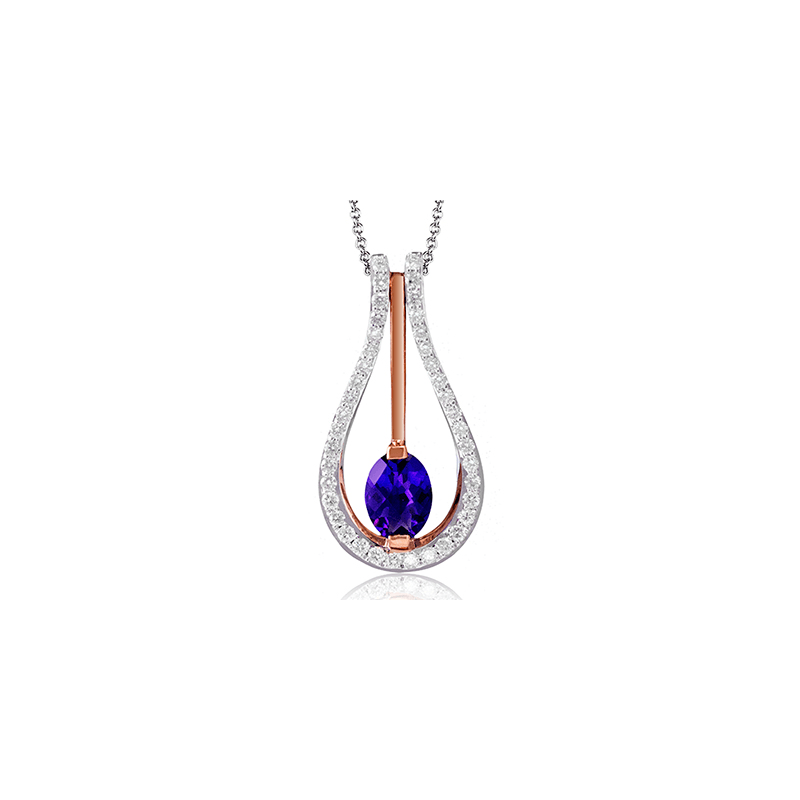 Zeghani ZP242 COLOR PENDANT