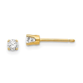 14k 3mm CZ stud earrings