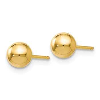 Leslie's 14K Polished 5mm Ball Post Earrings