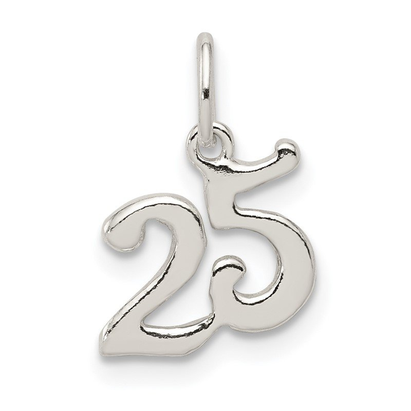 Quality Gold Sterling Silver Polished 25 Charm
