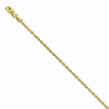 Leslie's 10K 2.00mm Diamond Cut Lightweight Rope Chain