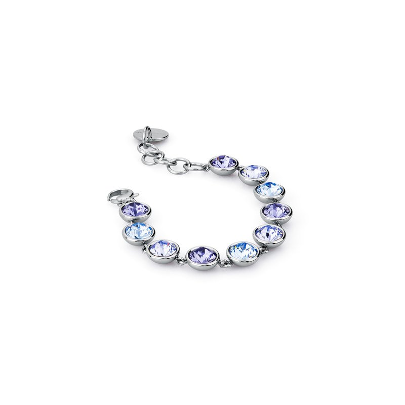 Brosway 316L stainless steel and lavander, tanzanite and light sapphire Swarovski® Elements