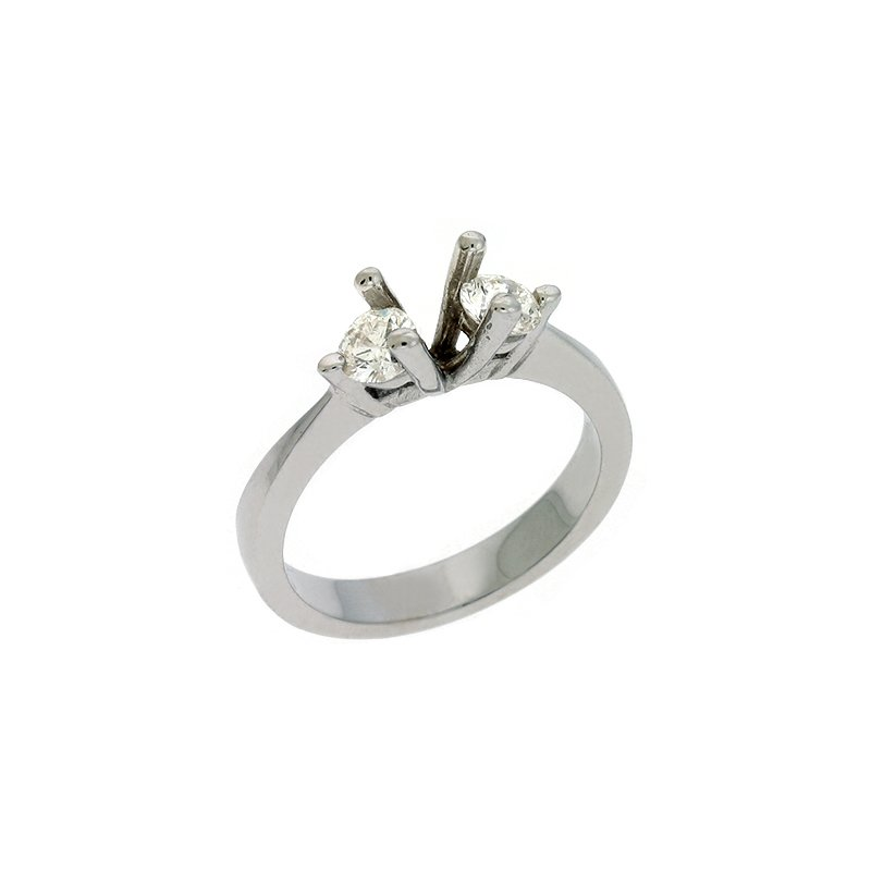 S. Kashi & Sons Bridal White Gold Three Stone Ring
