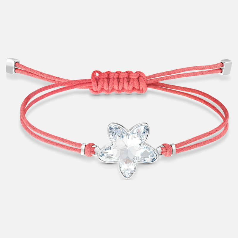 Swarovski Swarovski Power Collection Flower Bracelet, Red, Stainless steel