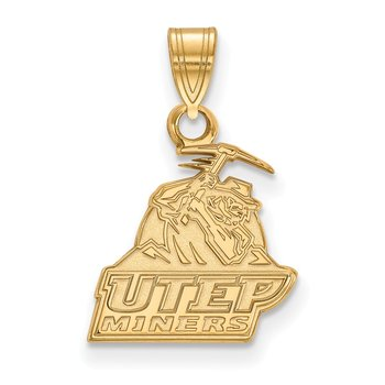 Gold University of Texas at El Paso NCAA Pendant