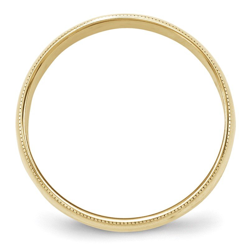 Quality Gold 10KY 6mm LTW Milgrain Half Round Band Size 10