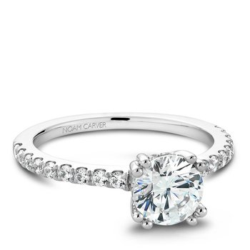 Noam Carver Modern Engagement Ring B004-01A