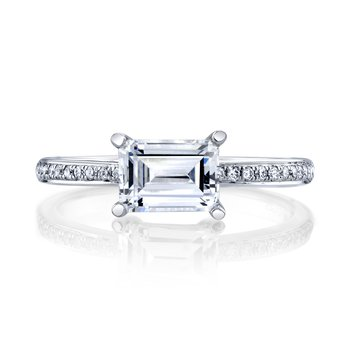 MARS 27225 Diamond Engagement Ring, 0.11 Ctw.