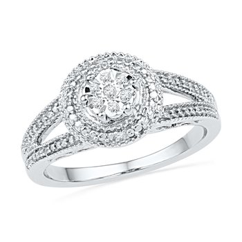 Halo Silver Promise Ring