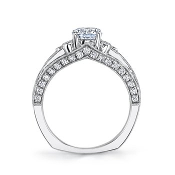 MARS 26075 Diamond Engagement Ring, 0.65 Ctw.