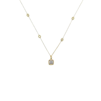 18KT NEW BAROCCO SQUARE SHAPE DIAMOND NECKLACE