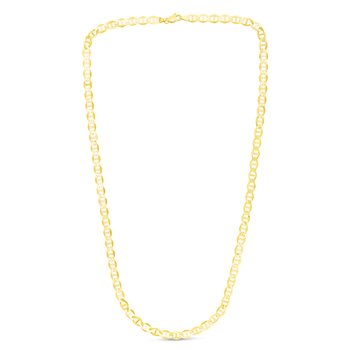 10K Gold 5.5mm Mariner Chain