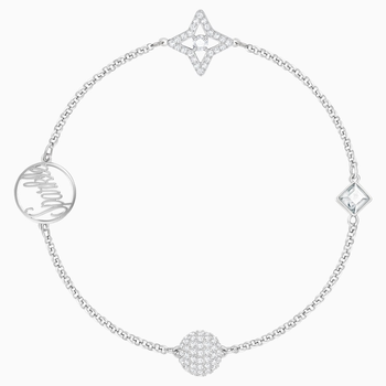 Swarovski Remix Collection Star Strand, White, Rhodium plated