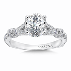 Valina Oval Center Split Shank Engagement Ring in 14K White Gold (0.49 ct. tw.)