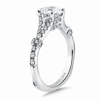 Oval Center Split Shank Engagement Ring in 14K White Gold (0.49 ct. tw.)
