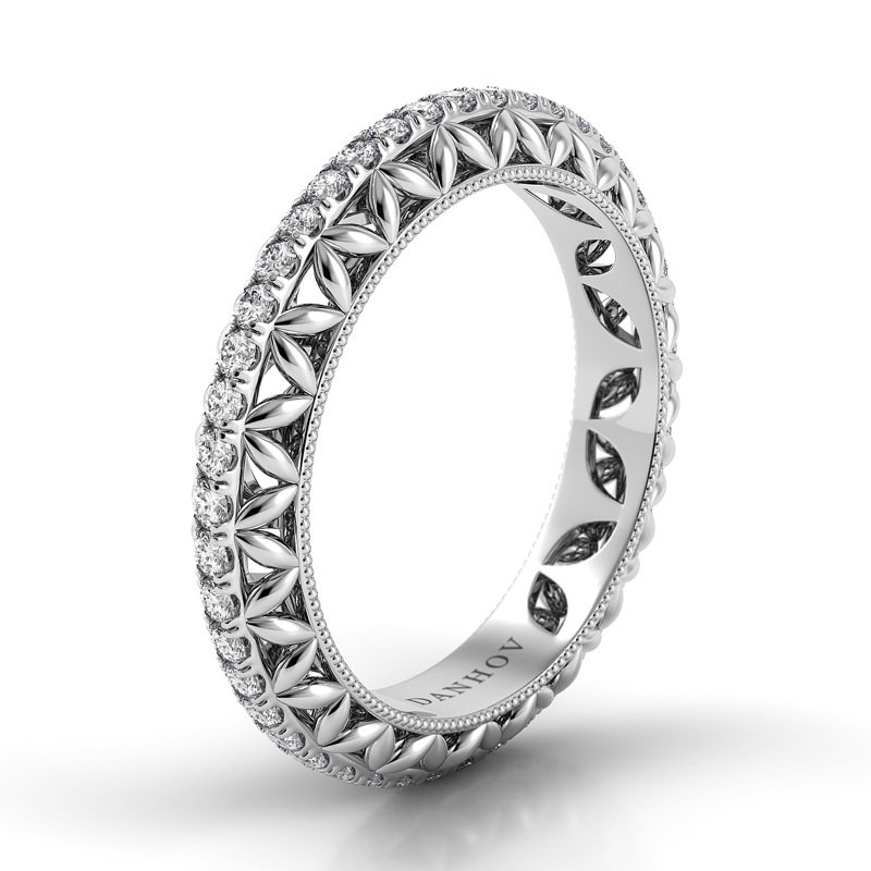 Danhov Petalo Round Diamond Band