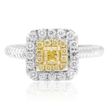 Square Braided Diamond Ring