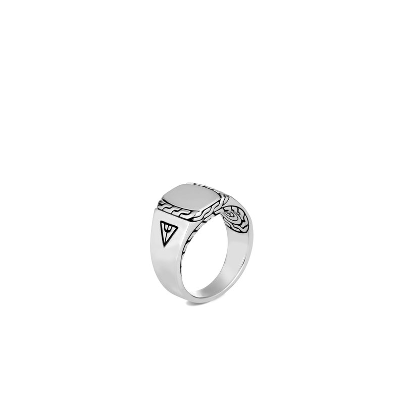 JOHN HARDY Classic Chain Signet Ring in Silver