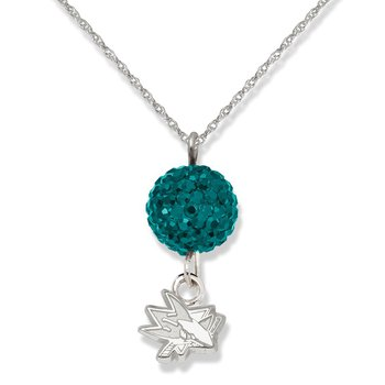 Sterling Silver San Jose Sharks NHL Necklace