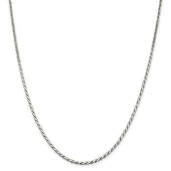Sterling Silver 2.5mm Flat Rope Chain