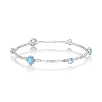Color Pop Multi Bangle featuring Assorted Gemstones
