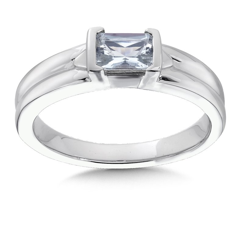 Colore Sg Sterling Silver and Aquamarine Ring