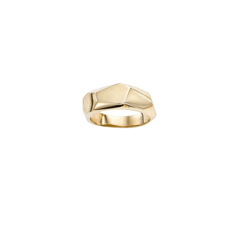 Royal Chain 14K Gold Sculptural Ring