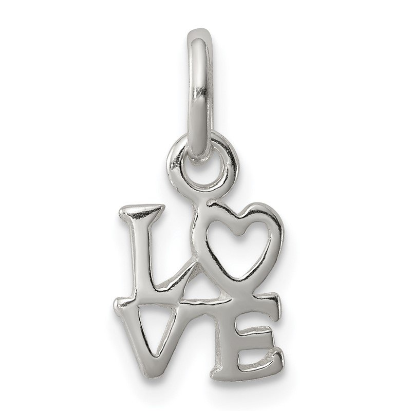 Quality Gold Sterling Silver Love Charm
