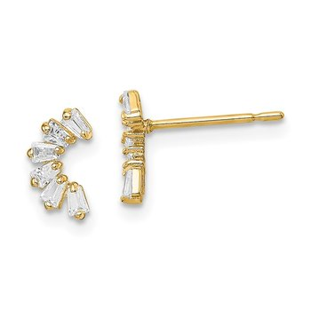 14k Madi K CZ Arch Post Earrings