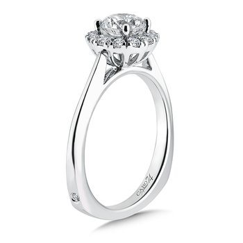 Classic Elegance Collection Halo Engagement Ring in 14K White Gold (3/4ct. tw.)