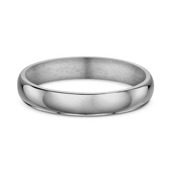 4mm D Shape Wedding Band