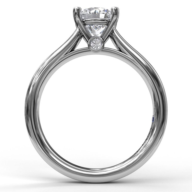 Fana Classic Solitaire With Peek A Boo Diamond