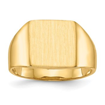 14k 11.5x11.0mm Open Back Signet Ring