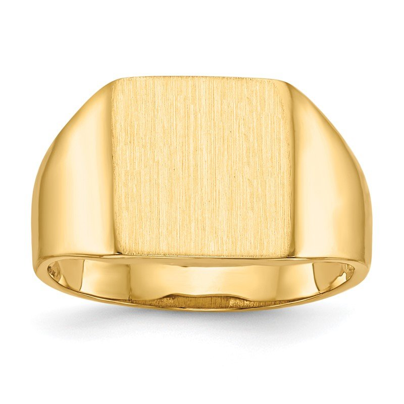 Quality Gold 14k 11.5x11.0mm Open Back Signet Ring