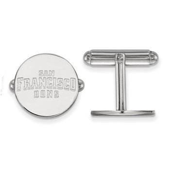 Sterling Silver University of San Francisco NCAA Cuff Links