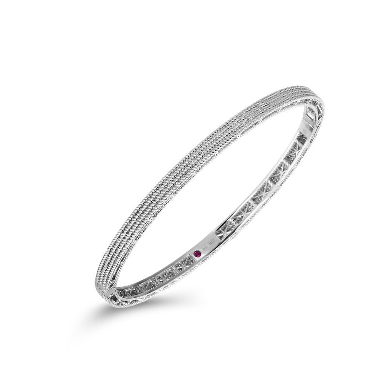 Roberto Coin Barocco Oval Bangle &Ndash; 18K White Gold