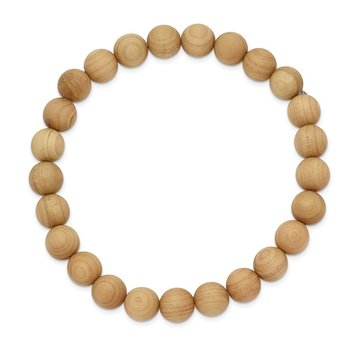 Stretch Bead Cypress Wood Bracelet