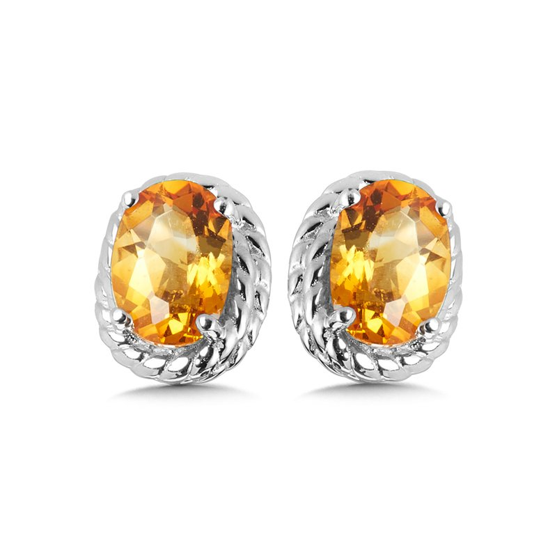 SDC Creations Citrine Earrings in Sterling Silver