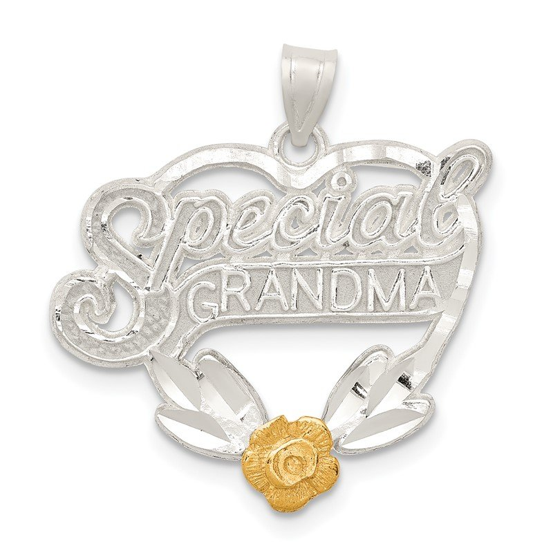 Quality Gold Sterling Silver Special Grandma Charm