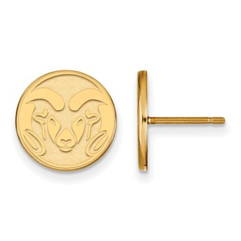 Gold Colorado State University NCAA Earrings