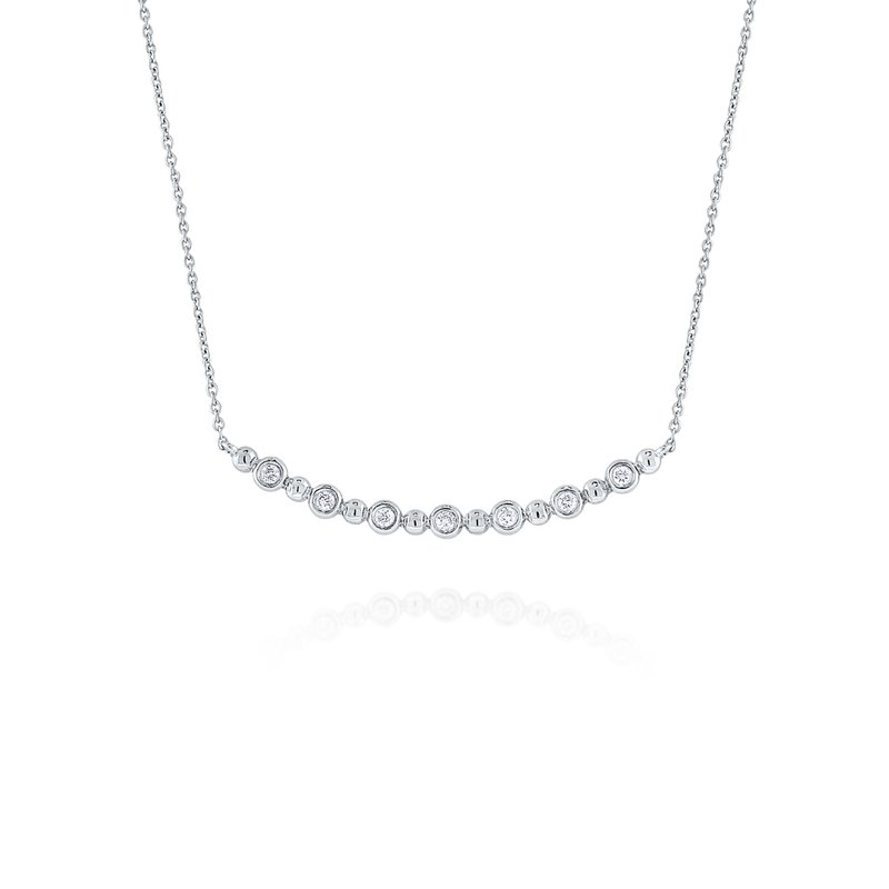 KC Designs 14K Diamond Curved Bar Necklace