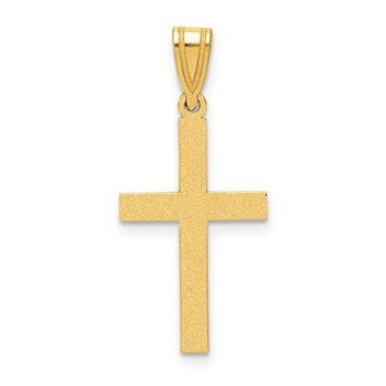 14k Sand Blasted Cross Pendant