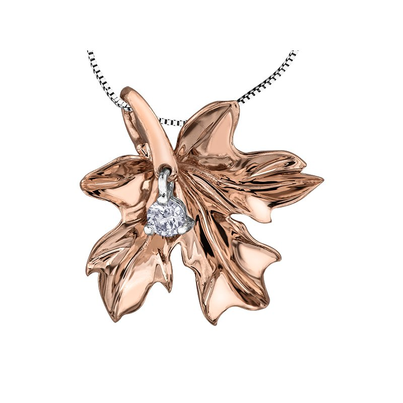 Maple Leaf Diamonds Maple Leaf Diamond , Seasons™ by Shelly Purdy, Solitaire Pendant